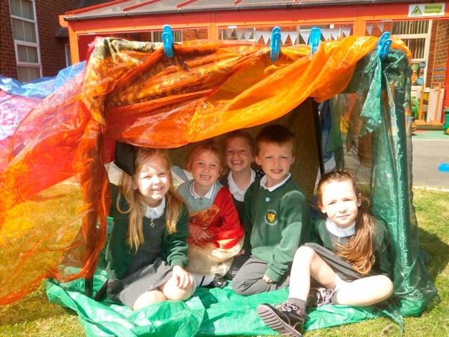 Look at the fantastic dens we made also.