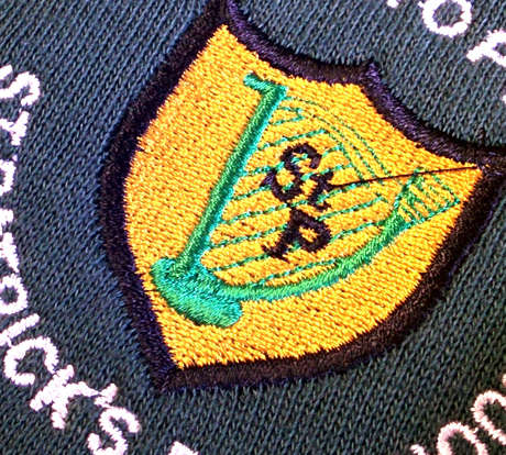 St Patrick's Embroidered Badge
