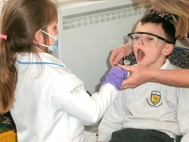 We had a visit from the Oral health team and we found out about our teeth and how to look after them. Then we played in role as a dentist.