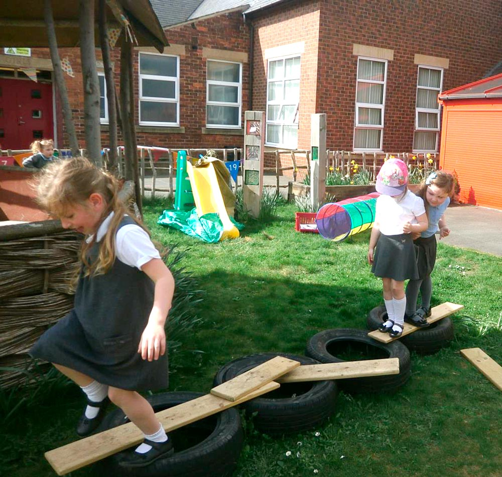 We made our own bridge to get across the river.
