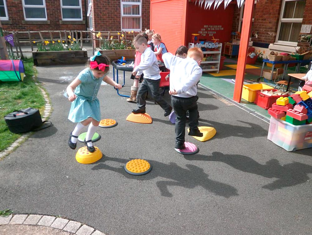 How fast can we hop on the stepping stones?